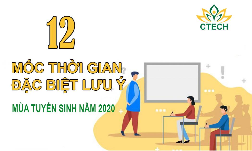 12 mốc thời gian cần đặc biệt lưu ý trong tuyển sinh Đại học/Cao đẳng 2020