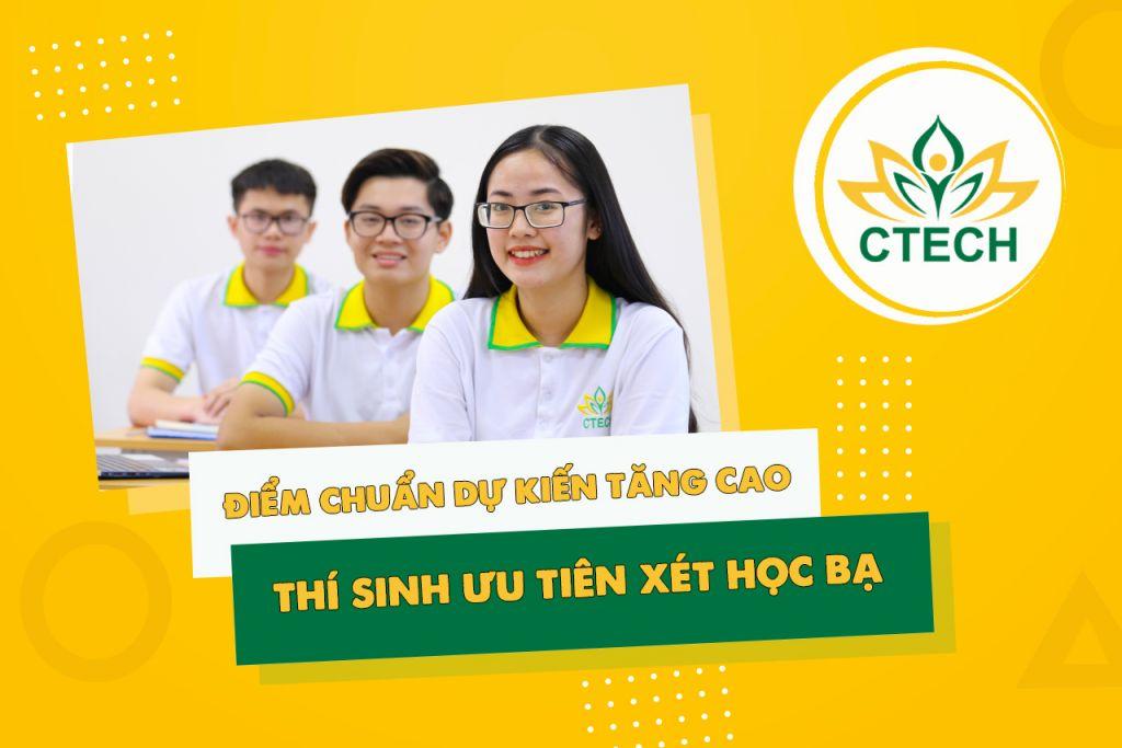 Chuyên gia dự đoán điểm chuẩn tăng, thí sinh ưu tiên xét học bạ - Cao đẳng Kỹ Thuật - Công nghệ Bách Khoa (CTECH)