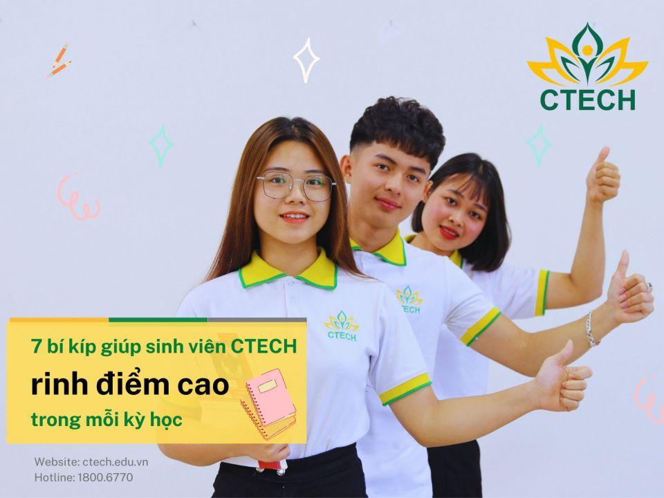 """7 bí kíp vàng giúp sinh viên CTECH """"rinh"""" điểm cao trong mỗi kỳ học - Cao đẳng Kỹ Thuật - Công nghệ Bách Khoa (CTECH)"""